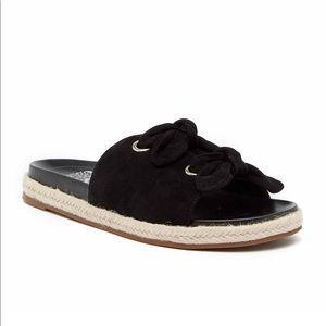 VINCE CAMUTO Jazzan Tied Suede Slides Sandals